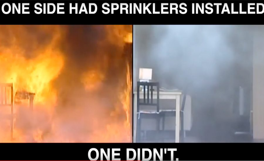 Fire-sprinkler-demonstration